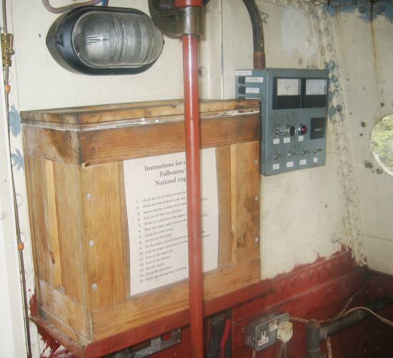 Engine Room Battery Box and control panel